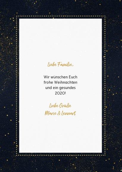 Weihnachtskarte mit Fotos und goldenen Sternen 3