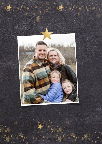 Weihnachtskarte mit Fotos und Goldsternen 2