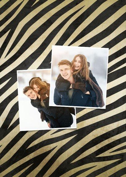 Weihnachtskarte mit Fotos und Zebraprint 2