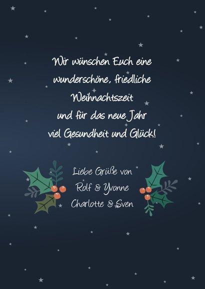 Weihnachtskarte mit fröhlichem Rentier und Sternen 3