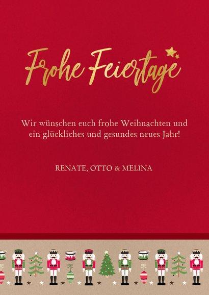 Weihnachtskarte mit großem Foto und Nussknacker Rahmen 3