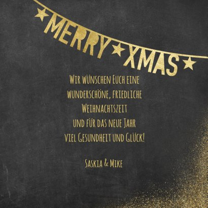 Weihnachtskarte mit Polaroidfotos und Text in Goldlook 3