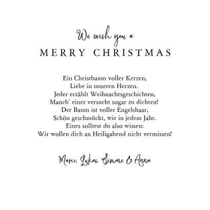 Weihnachtskarte mit Tannenbaum und Typografie 3
