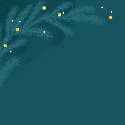Weihnachtskarte mit Tannenzweigen und Punkten 2