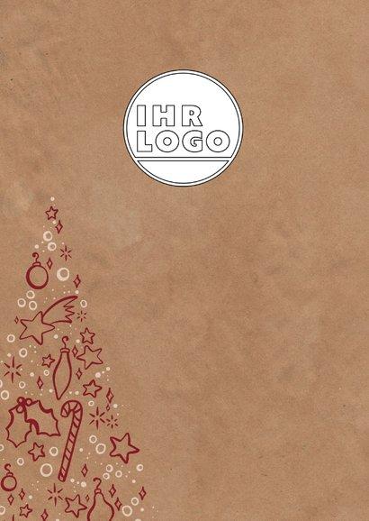 Weihnachtskarte mit Weihnachtsbaum-Illustration 2