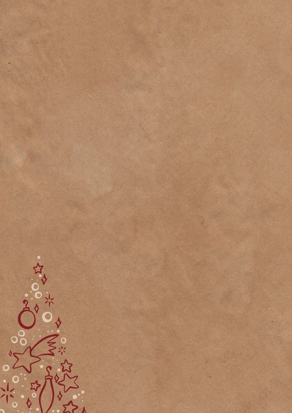 Weihnachtskarte mit Weihnachtsbaum-Illustration Rückseite