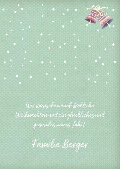 Weihnachtskarte Pinguin mit Sprechblase 3