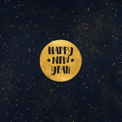 Weihnachtskarte schwarz vier Fotos und schwarze Goldkonfetti 2