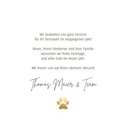 Weihnachtskarte Tierarztpraxis Weihnachtsmann & Hund 3