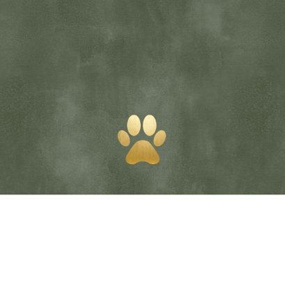 Weihnachtskarte Tierarztpraxis Weihnachtsmann & Hund Rückseite
