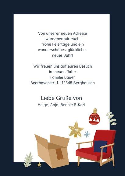 Weihnachtskarte Umzug Neue Adresse Illustration 3