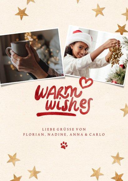 Weihnachtskarte 'Warm wishes' eigenes Foto 3