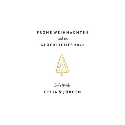 Weihnachtskarte 'Warm wishes' weiß und gold 3