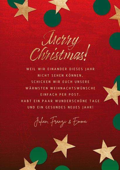 Weihnachtskarte Weihnachten mit Abstand 3