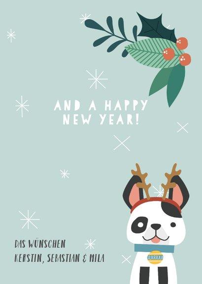 Weihnachtskarte Weihnachtshund 3