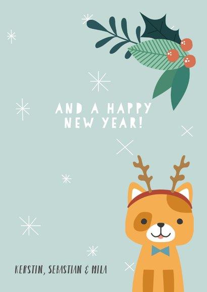 Weihnachtskarte Weihnachtskatze 3