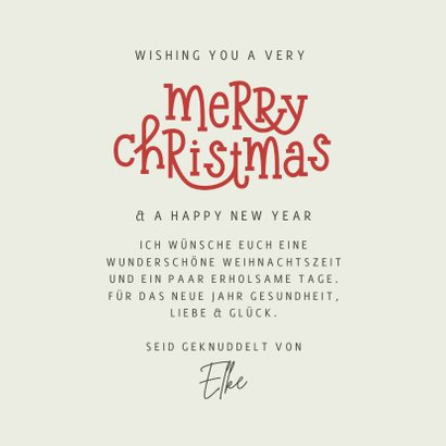 Weihnachtskarte 'Wishing You a Merry Christmas' 3