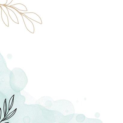 Welkom thuis kaart met waterverf en bloemen. 2