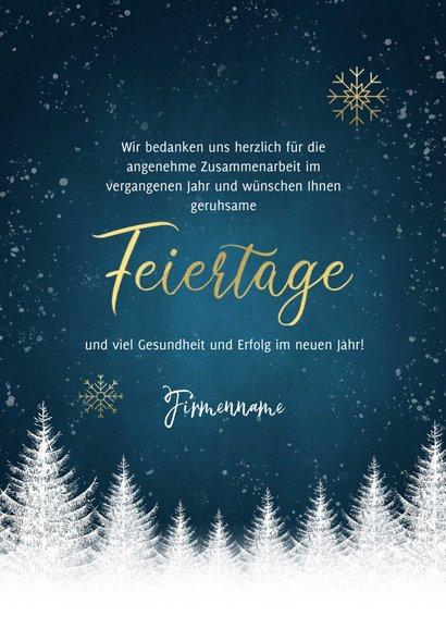 Winterliche geschäftliche Weihnachtskarte Foto innen 3