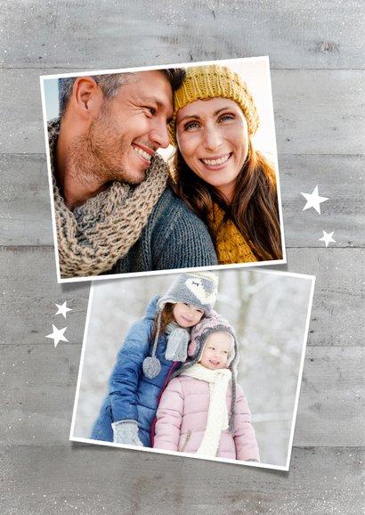 Winterliche Weihnachtskarte eigene Fotos als Weihnachtsbaum 2