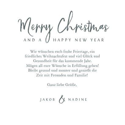 Winterliche Weihnachtskarte mit Elch und Schneeflocken 3