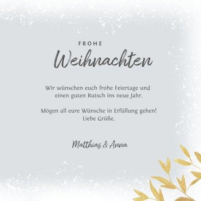 Winterliche Weihnachtskarte mit Foto & goldenen Zweigen 3