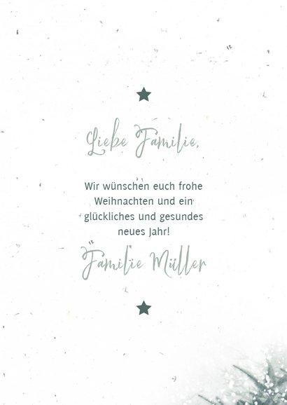 Winterliche Weihnachtskarte mit Foto und Tannenbaum 3
