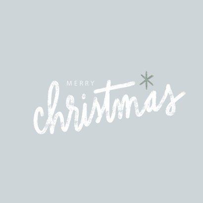 Winterse fotokaart met grote foto en merry christmas 2
