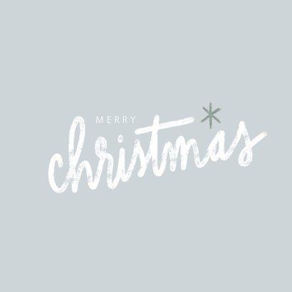 Winterse kerstkaart, grote foto en merry christmas 2