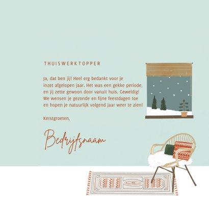 Winterse zakelijke kerstkaart met thuiswerk illustratie 3