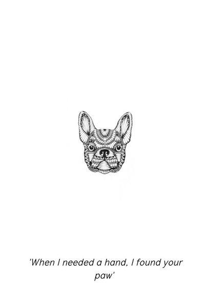 Woonkaart Dog handgetekend 2