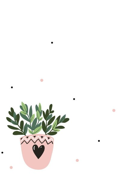 Woonkaart: huisje boompje plantje 2