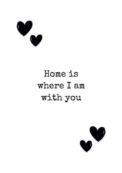 Woonkaart huisje home sweet home 3