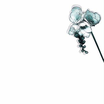 YVON DROOM rouwkaart hangbloem 2