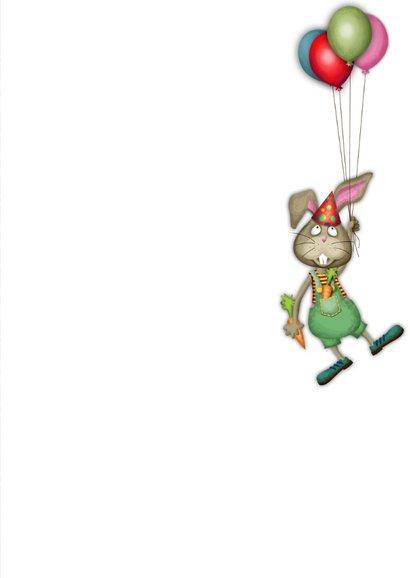 YVON straat konijn ballonnen eigen foto 3