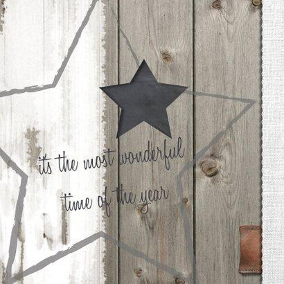 zakelijk kerstkaart ster hout 2