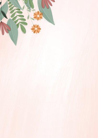 Zakelijke kaart een bloemetje voor jou 2