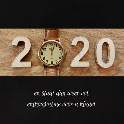 Zakelijke kerst horloge aftellen 2019 - 2020 3