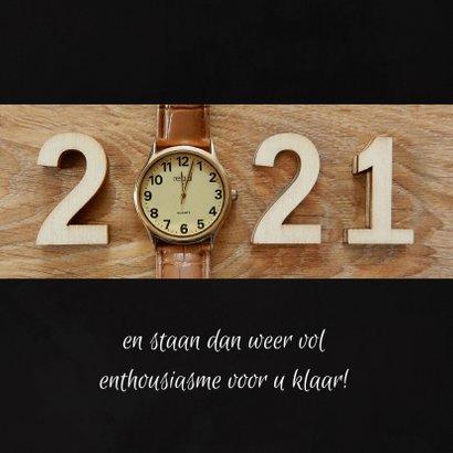 Zakelijke kerst horloge aftellen 2020 - 2021 3