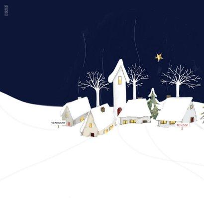 Zakelijke kerst kerstbal met kerstdorp 2