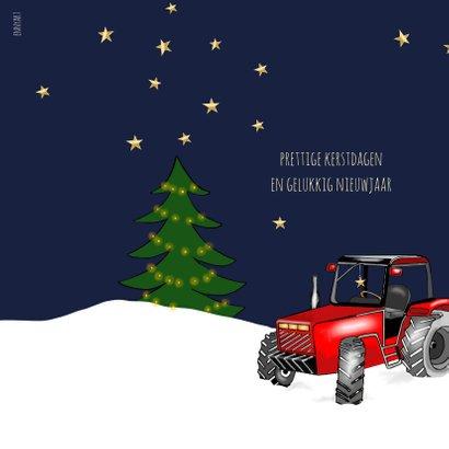 Zakelijke kerst - Kerstbal met tractor 2
