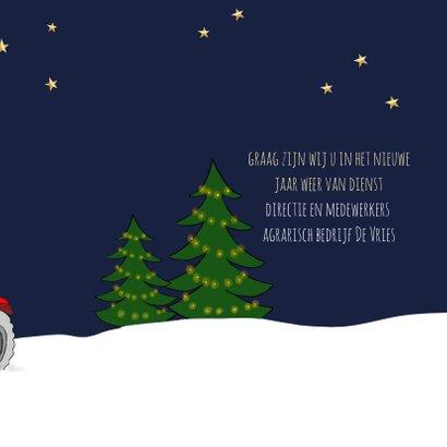 Zakelijke kerst - Kerstbal met tractor 3