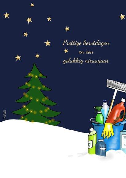 Zakelijke kerst schoonmaak kerstbal 2