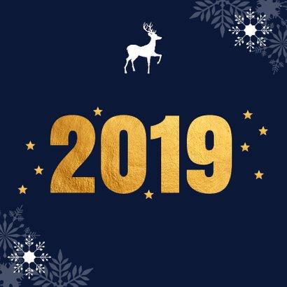 Zakelijke kerstkaart 2019 goud - LB 2