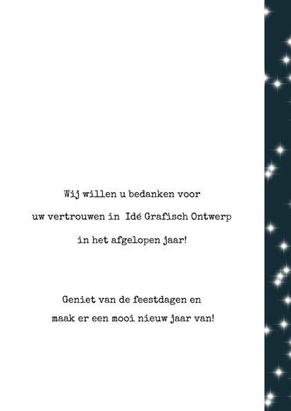 Zakelijke kerstkaart 2020, eenvoudig met tekst en sterretjes 3