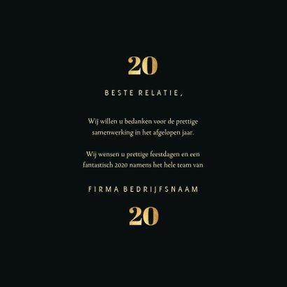 Zakelijke kerstkaart 2020 goudlook met 2 foto's 3