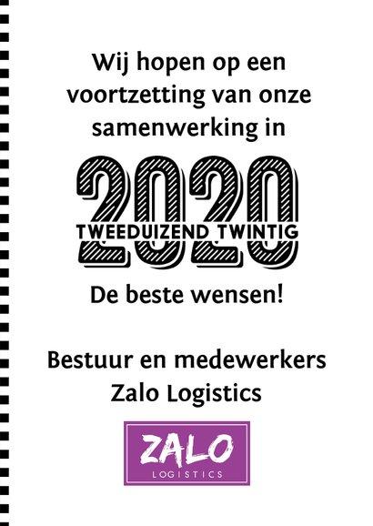 Zakelijke nieuwjaarskaart 2020 u-vorm 3