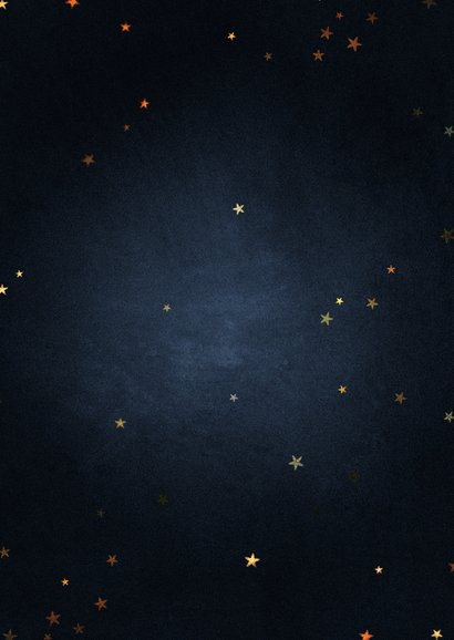 Zakelijke kerstkaart 2021 goud met sterren fijne feestdagen Achterkant