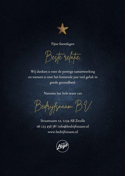 Zakelijke kerstkaart 2022 goud met sterren fijne feestdagen 3