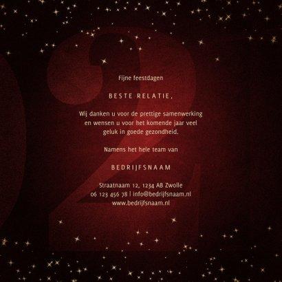 Zakelijke kerstkaart 21 met handgeschreven feestdagen 3